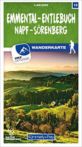 Emmental - Entlebuch Napf - Sörenberg Nr. 19 Wanderkarte 1:40 000: Matt laminiert, free Download mit HKF Outdoor App (Kümmerly+Frey Wanderkarten)