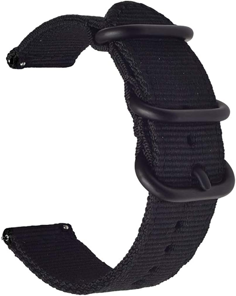 Quick Release 2 Pieces Watch Band Black Ranking TOP5 Nylon Strap Discount mail order Thick Buckle