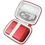 pour Anker PowerCore 13000 Batterie Externe 2 Ports USB 13000 mAh Power Bank Dur Cas étui de Voyage Housse Porter by Khanka (Seul Cas,All Red)