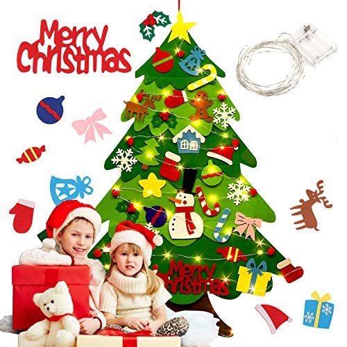 Airoads 3.2ft DIY Árbol de Navidad Fieltro con 32 Piezas de