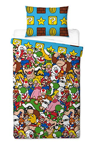 Unbekannt Super Mario Bettbezug, Mehrfarbig, 200 x 130cm