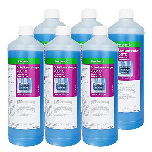 Bio-Chem Scheibenreiniger -60°C Sparpack 6X 1000 ml Super-Spar Konzentrat Anti-Frost Scheibenfrostschutz Frostschutzmittel Scheibenklar Windschutzscheibe Scheibenwaschanlage Scheiben-Enteiser