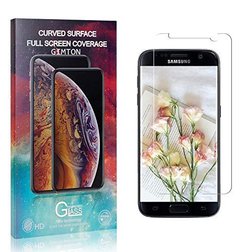GIMTON Displayschutzfolie für Galaxy S7, 9H Härte Anti Fingerprint Displayschutz, Ultra Dünn Schutzfilm aus Gehärtetem Glas für Samsung Galaxy S7, 1 Stück