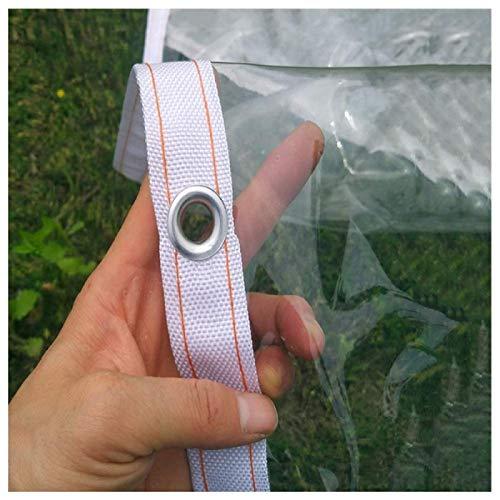 GWZSX Transparente Lonas PVC con Ojales Impermeables Lona De Protección Lona Alquitranada A Prueba De Viento A Prueba de desgarros Refugio De Lluvia para jardinería de pérgolas-1x3m Claro-0.3mm