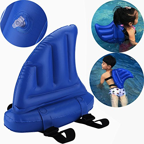 Vbestlife Inflatable Children Shark Swim Fin Animal Swimming Ring Float Toy Aid Pool Floats Swimming Aid Fin Float