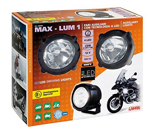 Lampa 90460 Max-Lum 1, Coppia Fari Ausiliari a LED, 12V, 6000K