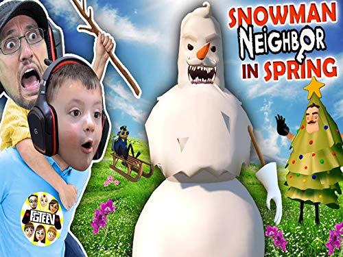 Hello Neighbor Christmas Mod and Amazing Frog Teleport!