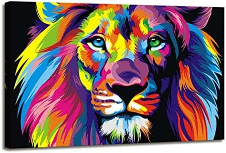 Abstract lion painting _image3