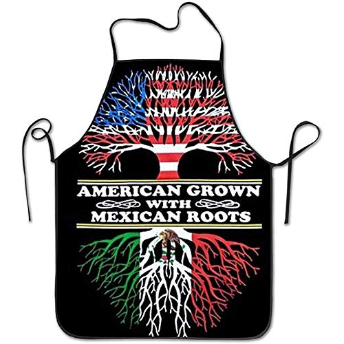 GWrix Amerikaanse Mexicaanse vlag schorten voor vrouwen/mannen Bib Save-All Barbecue serveerster doek grappige chef-kok schort