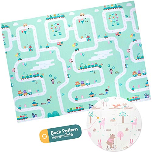 Baby Foam Play Mat  Foldable Waterproof Reversible Playmat for Toddlers and Kids