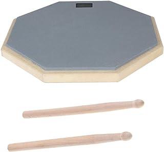 Shiwaki ドラムスティック 練習用ドラム 練習パッド パーカッション楽器 ドラムアクセサリー