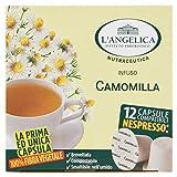 L'Angelica, Tisana Funzionale in Capsule a Base di Camomilla, Compatibili Nespresso, 100% Fibra Vegetale, Assumibile in Gravidanza, 5 Confezioni