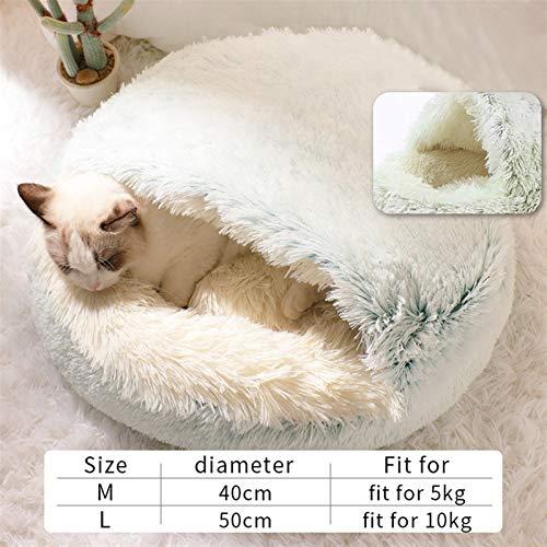 N\A Katzenbett, Katze Warm Bett Haus Haustier Hund Katze Bett Runde Plüsch Weiches...