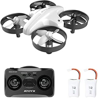 ATOYX Mini Drones for Kids and Beginners Remote Control Toys, Quadcopter with Altitude Hold,Headless Mode,3D Flip,Speed Adjustment and 2 Batteries,RC Helicopter is Best Kid Toys Gift