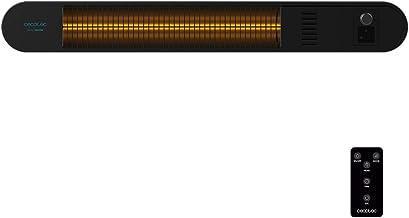Cecotec Calefactor de Pared Exterior Ready Warm 8600 Power Gold. Halógeno de radiación infrarroja, 2000 W, IP55, Mando a Distancia, Sistema de calefacción Gold, Kit de Montaje