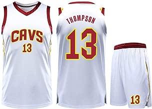HSLIUQIUYI Tristan Thompson NBA Cleveland Cavaliers No. 13 Jersey De Baloncesto Manga Corta Elástico Suave Y Transpirable Baloncesto Ropa Deportiva Jersey Blanco,S
