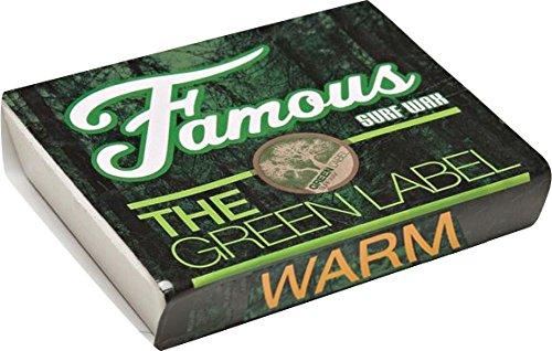 Famous Green Label Warm Single Bar Wax Organic Surf Wax