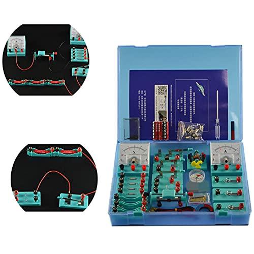 HCFSUK Kit de experimentos de Electricidad Kit de experimentos de física Herramientas de física para Estudiantes Circuito de Laboratorio de Ciencias de física Stem