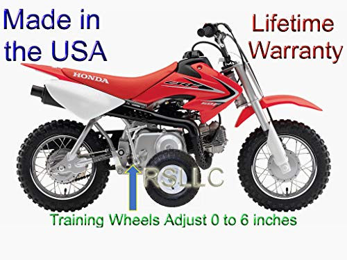 RSLLC Adjustable Motorcycle Training Wheels for Honda CRF 50, XR 50 and Z 50 - Bike NOT Included