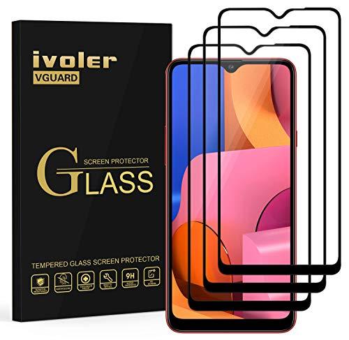 ivoler 3 Stücke Panzerglas Schutzfolie für Samsung Galaxy A20s, [Volle Bedeckung] Panzerglasfolie Folie Hartglas Gehärtetem Glas BildschirmPanzerglas für Samsung Galaxy A20s