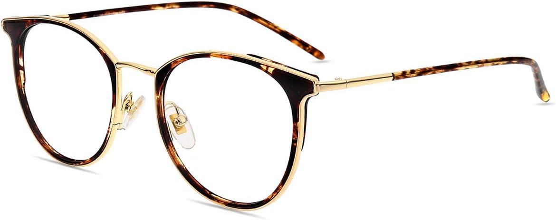 Firmoo Gafas para Ordenador Anti luz Azul,Evita la Fatiga Ojos, Gafas PC UV Luz Filtro Protección Azul Mujer Hombre para Antifatiga, S11050 Tortuga