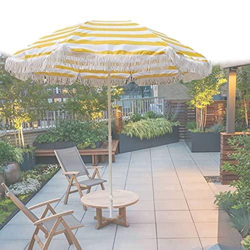 Sombrilla para jardín Plegable Parasol de Playa inclinable para terraza, Piscina, Exteriores,...