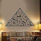 Antiguo Egipto Pirámide Egipcia Jeroglíficos Vinilo Tatuajes De Pared Decoración Para El Hogar Murales De Arte Pegatinas De Pared Extraíbles 58X93Cm