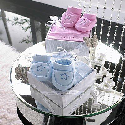 Izziwotnot - Coffret cadeau 2 pièces Delight, de luxe - rose - 0 à 3 mois
