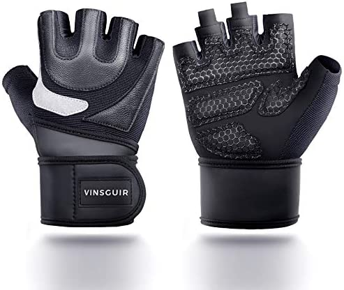 Vinsguir Weight Lifting Gloves Workout Gym Gloves with Wrist Wrap Support Extra Grip for Pull product image