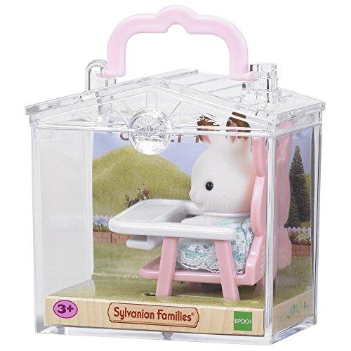 Sylvanian Families 5197 Minibox: Hase im Babyhochstuhl - Puppenhaus Spielset