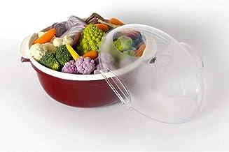 Bama Cooky Recipiente Para La Cocción En Microondas, Plástico Roja