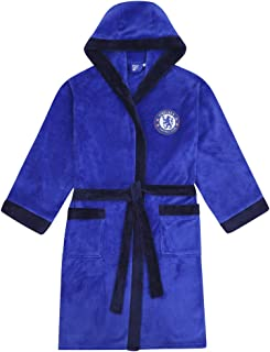 Chelsea FC Mens Dressing Gown Robe Hooded Fleece Official Football Gift
