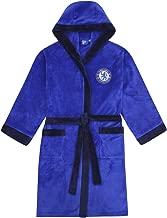 Chelsea FC - Herren Fleece-Bademantel mit Kapuze - offizielles Merchandise Fußballfans
