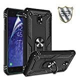 Galaxy J7 2018 Phone Case,Samsung J7 Aero/J7 Top/J7 Crown/J7 Aura/J7 Refine/J7 Star/J7 Eon Case,Gritup 360 Degree Rotating Metal Ring Holder Kickstand Phone Case for Galaxy J7 2018 Black