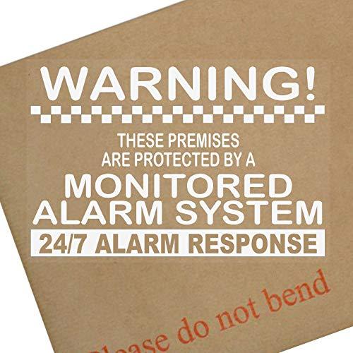 Platinum Place 6 x Monitored Alarm System Window Stickers-130mm-24hr Beveiligingswaarschuwingsborden voor Thuis, Huis, Plat, Zakelijk, Zelfklevende Vinyltekens