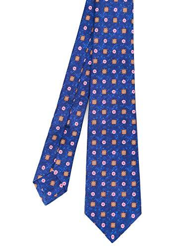 Kiton Luxury Fashion Herren 9E4103 Blau Seide Krawatte | Frühling Sommer 20