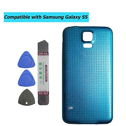 Upplus - Tapa de batería Compatible con Samsung Galaxy S5 G900 G900A G900P G900T G900V G900R4 G900F, Color Azul