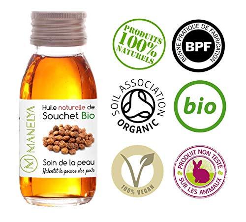 Huile de Souchet Bio 125ml - Anti-repousse du poil - Nourissante pour la peau et les cheveux - Manelya -
