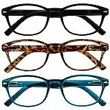 Uv Reader Gafas De Lectura Pack 3 Mezclado Oferta Mar Azul Marrón Concha De Tortuga Negro Mujeres Hombres Rrr76-123 +2,00 3 Unidades 88 g