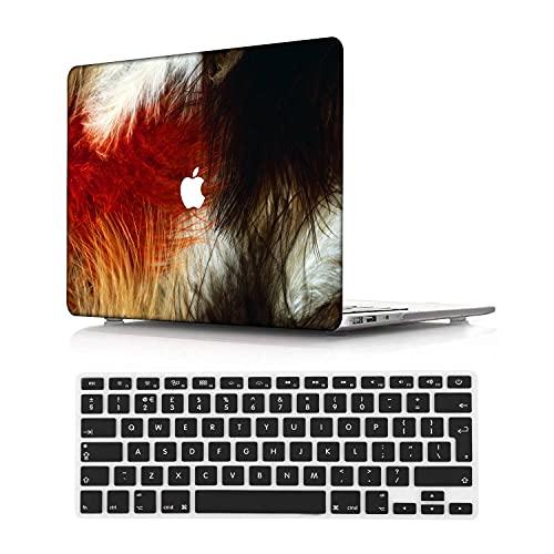 NEWCENT MacBook Pro 13' Retina Funda,Plástico Ultra Delgado Ligero Cáscara Cubierta EU Teclado Cubierta para MacBook Pro 13 Pulgadas Sin CD-ROM/Táctil(Modelo:A1502/A1425),Animal A 169