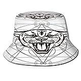 RUEMAT Sombrero Pescador Unisex,Ilustración Dibujada Mano Pathter Geometría Sagrada,Plegable Sombrero de Pesca Aire Libre Sombrero Bucket Hat para Excursionismo Cámping De Viaje Pescar