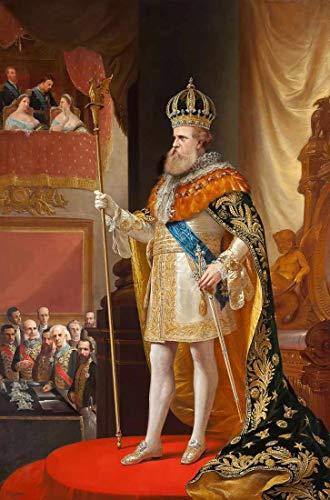 Dom Pedro II na abertura da Assembléia Geral de Pedro Américo - 30x45 - Tela Canvas Para Quadro