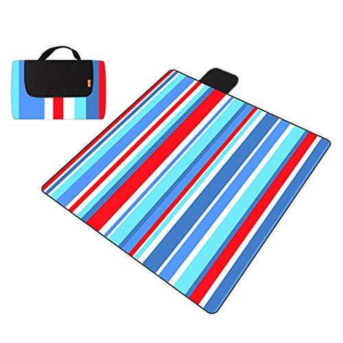 Sandproof imperméable avec la couverture pliable de pique-nique avec la carpette extérieure de tapis de plage de natte de tapis de plage de tapis de voyage ou de tapis de jeu de bébé 200 * 200cm HMLIF