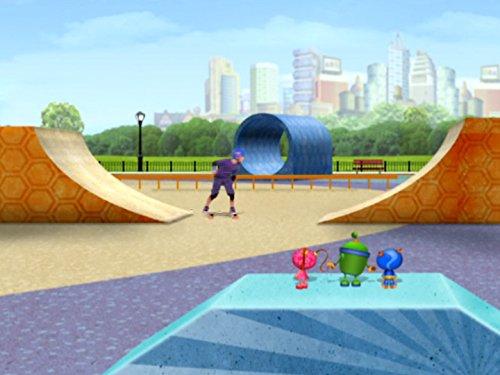 Der Junge mit dem Drachen-Skateboard