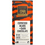 Endangered Species Tiger, Natural Dark Chocolate (72%) with Espresso Beans, 3-Ounce Bars (Pack of 12)