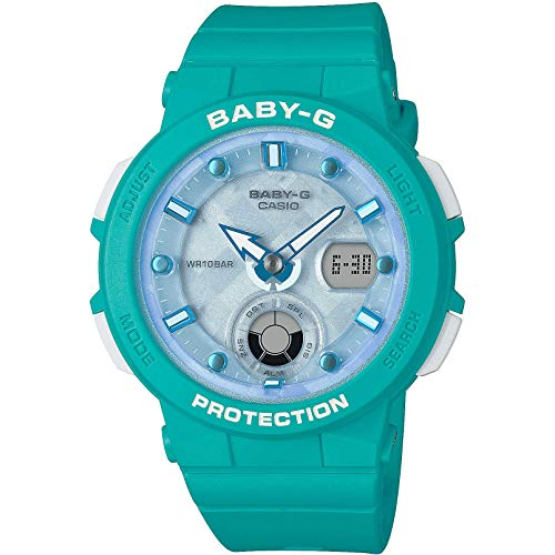 Baby-G Damen Analog-Digital Quarz Uhr mit Harz Armband BGA-250-2AER