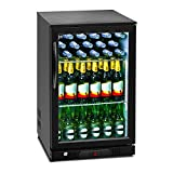 Royal Catering RCGK-108C Minibar Kühlschrank Getränkekühlschrank Flaschenkühlschrank mit Glastür (108 L, 2–10 °C, abschließbare Tür mit Doppelverglasung, LED Beleuchtung, Schwarz) - 7