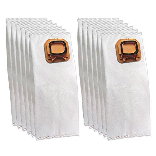 DLS 12 Sacchi/Sacchetti (Microfibra) per aspirapolvere Vorwerk Folletto Kobold VK 140, 150, VK140, VK150, Bianco, Piccolo