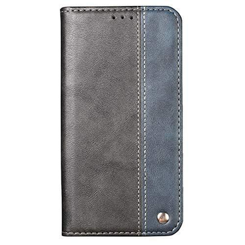 Ailisi Hülle Galaxy S7 Edge Schutzhülle, Premium Klapphülle Slim Handyhülle mit Kartenfächern, Magnetisch Tasche Leder Flip Case für Samsung Galaxy S7 Edge Cover -Schwarz+Blau