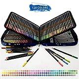 120 Lápices de Colores Profesionales,lapiz para colorear de Dibujo y Bosquejo Material de dibujo Set,Incluye Caja de Cremallera Portátil,Mejores Lápices de colores Conjunto Ideal para Adultos y Niños